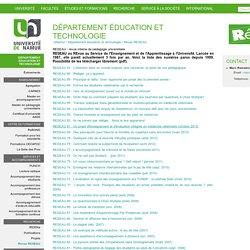 RESEAU : revue interne de pédagogie universitaire — Université de Namur