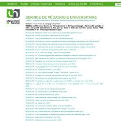 RESEAU : revue interne de pédagogie universitaire