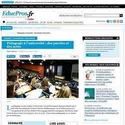 Pédagogie à l'université : des paroles et des actes - Enquête sur Educpros