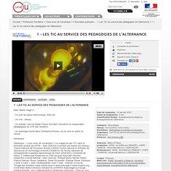 Canal-U - 1 - Les tic au service des pedagogies de l'alternance