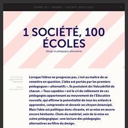 1 société, 100 écoles - Design et pédagogies alternatives
