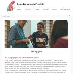 Pédagogies - École Domaine du Possible