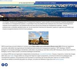 Colloque Questions de Pédagogies dans l'Enseignement Supérieur