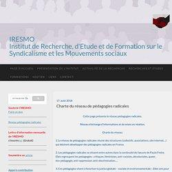 Iresmo : Institut de recherches et d'études sur le syndicalisme et les mouvements sociaux