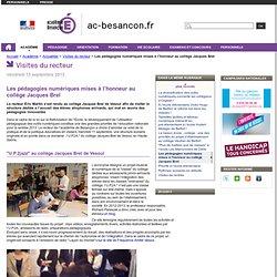 Les pédagogies numériques mises à l'honneur au collège Jacques Brel