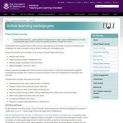 Active learning pedagogies - the University of Queensland, Australia