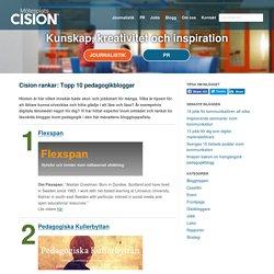 Cision rankar: Topp 10 pedagogikbloggar