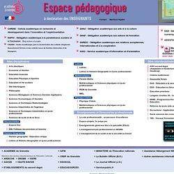 Site pédagogique de l'académie de Grenoble - Accueil