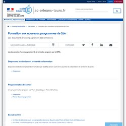 Portail pédagogique académique:Formation aux nouveaux programmes de 2de.