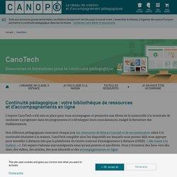 Continuité pédagogique : ressources et accompagnements - CanoTech