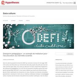 Datasprint pedagogique : un exemple de médiation pour l'acculturation aux données ouvertes