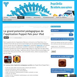 Le grand potentiel pédagogique de l'application Puppet Pals pour iPad