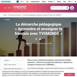 La démarche pédagogique «Apprendre et enseigner le français avec TV5MONDE»