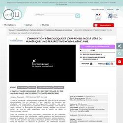 L'innovation pédagogique et l'apprentissage à l'ère du numérique: une perspective nord-américaine - Université Paris 1 Panthéon-Sorbonne