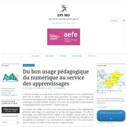 Du bon usage pédagogique du numérique au service des apprentissages – EPS MO
