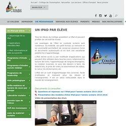 Programme pédagogique un iPad par élève - Collège l'Assomption