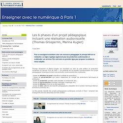 Les 6 phases d'un projet pédagogique incluant une réalisation audiovisuelle (Thomas Grosperrin, Marina Kugler) TICE - Université