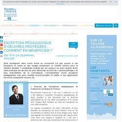 Exception pédagogique d'oeuvres protégées : comment en bénéficier ? Par Eric Le Quellenec, Avocat.