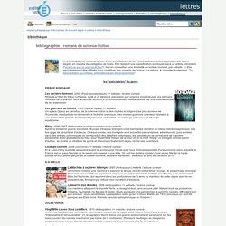 Bibliographie : romans de science-fiction