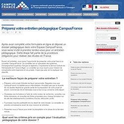 Préparez votre entretien pédagogique CampusFrance > Algérie