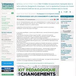 Kit pédagogique sur les changements climatiques