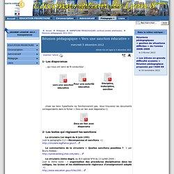 Réunion pédagogique « Vers une sanction éducative » - [ Circonscription Lyon 8ème]