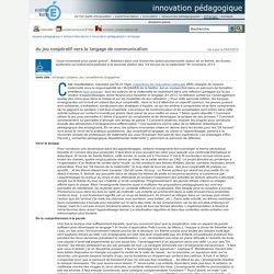innovation pédagogique - du jeu coopératif vers le langage de communication