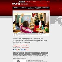Innovation pédagogique : accroître les compétences des enseignants grâce à une plateforme numérique