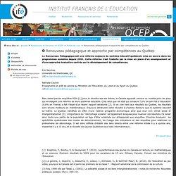 Renouveau pédagogique et approche par compétences au Québec — Site de l'Institut National de Recherche Pédagogique
