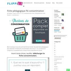 Fiche pédagogique fle consommation - FLIPPIZZ