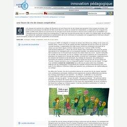 innovation pédagogique - une heure de vie de classe coopérative