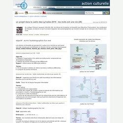 action culturelle - un projet dans le cadre des Lyriades 2010 : les mots ont une vie (49)