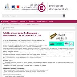 Cdi4Scrum ou Mêlée Pédagogique : découverte du CDI en 2nde Pro & CAP