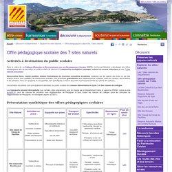 Offre Pédagogique Scolaire des 7 Sites Naturels - Conseil Départemental des Pyrénées-Orientales