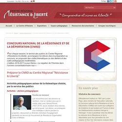 Espace pédagogique : Concours national de la Résistance et de la Déportation (CNRD)