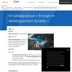 Kit pédagogique « Énergie et développement durable »