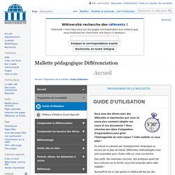 Mallette pedagogique Differenciation — Wikiversité