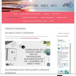 Continuité Pédagogique – Documentation – Nancy – Metz
