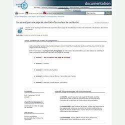 documentation - lire et analyser une page de résultats d'un moteur de recherche