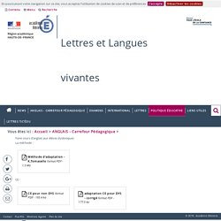 ANGLAIS - Carrefour Pédagogique > Faire cours d'anglais aux élèves dyslexiques