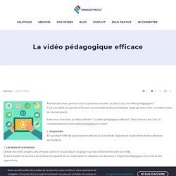 La vidéo pédagogique efficace