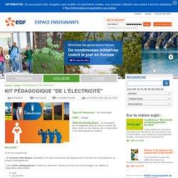 """Kit pédagogique """"De l'électricité"""""""