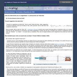 @.Ampère et l'histoire de l'électricité