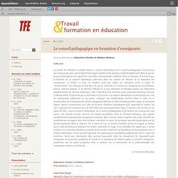 Le conseil pédagogique en formation d'enseignants - 4