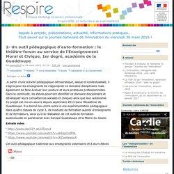 2- Un outil pédagogique d'auto-formation : le théâtre-forum au service de l'Enseignement Moral et Civique, 1er degré, académie de la Guadeloupe