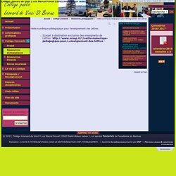 -Veille numérique pédagogique pour l'enseignement des Lettres - Collège Léonard de Vinci 2 rue Marcel Proust 22002 Saint-Brieuc cedex 1