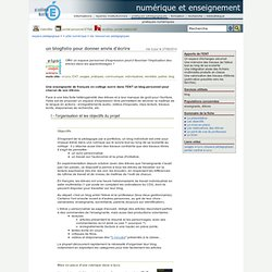 numérique et enseignement - un blogfolio pour donner envie d'écrire