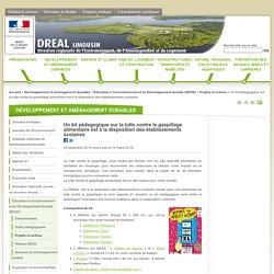 DREAL LIMOUSIN 29/12/14 Un kit pédagogique sur la lutte contre le gaspillage alimentaire est à la disposition des établissements scolaires
