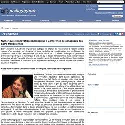 Numérique et innovation pédagogique : Conférence de consensus des ESPE franciliennes