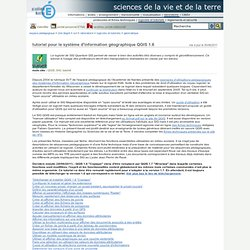 Espace Pédagogique - tutoriel pour le système d'information géographique QGIS 1.6
